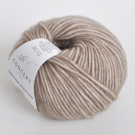 Пряжа Katia Cotton Merino, цвет 104, 105 м