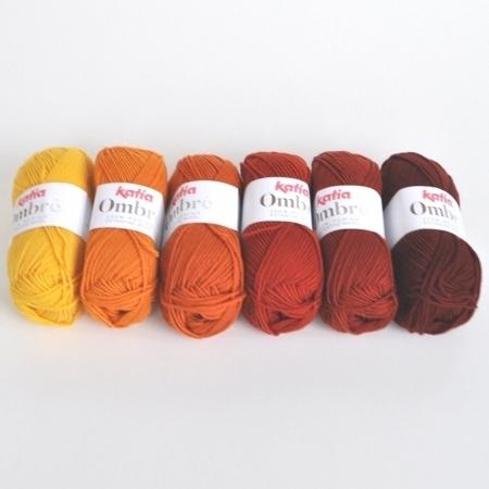 Пряжа для вязания и рукоделия Ombre (Katia) цвет 7, 85 м