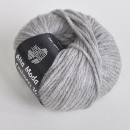 Пряжа для вязания и рукоделия Alta Moda Cashmere 16 (Lana Grossa) цвет 01, 110 м