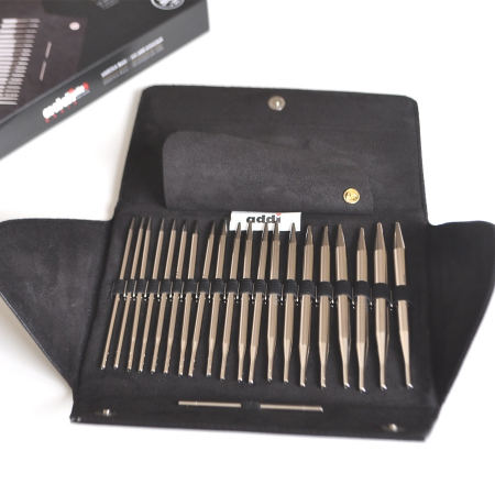 Addi Набор круговых никелированных спиц со сменными лесками AddiClick Basic 650-7