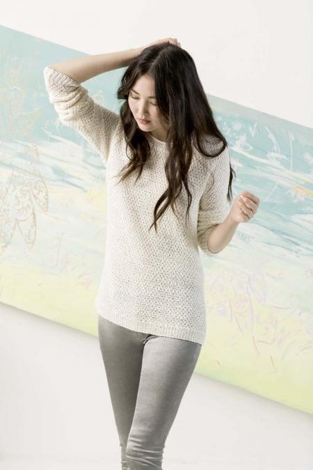 Пуловер из пряжи Lang Yarns Lino