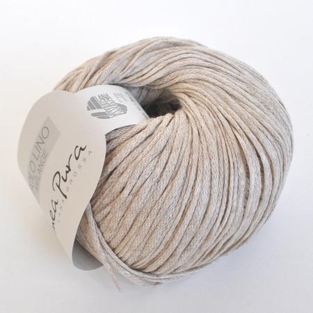 Пряжа для вязания и рукоделия Solo Lino Melange (Lana Grossa) цвет 103, 105 м