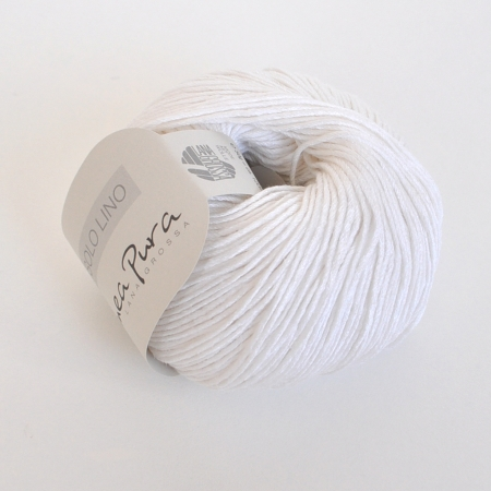 Пряжа для вязания и рукоделия Solo Lino (Lana Grossa) цвет 01, 120 м
