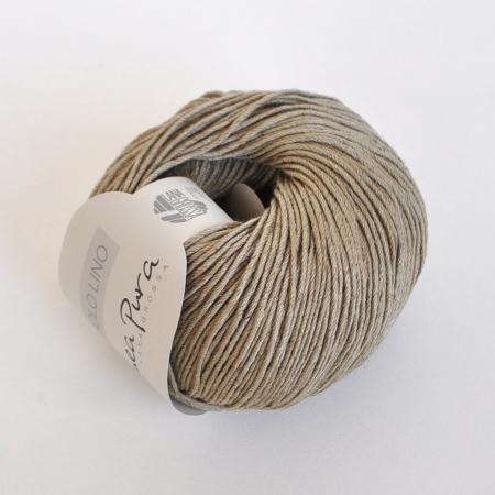 Пряжа для вязания и рукоделия Solo Lino (Lana Grossa) цвет 08, 120 м