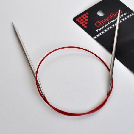 Chiaogoo Спицы Premium SS RED, 60 см / 2,5 мм