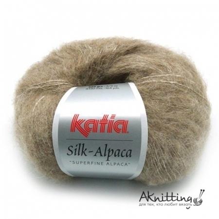 Пряжа для вязания и рукоделия Silk Alpaca (Katia) цвет 63, 150 м