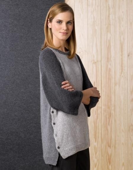 Женский свитер из пряжи Katia Cashmere Blend