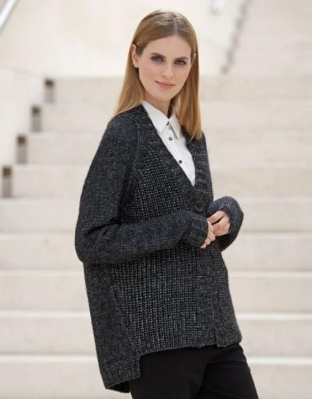 Жакет из пряжи Katia Cotton-Merino