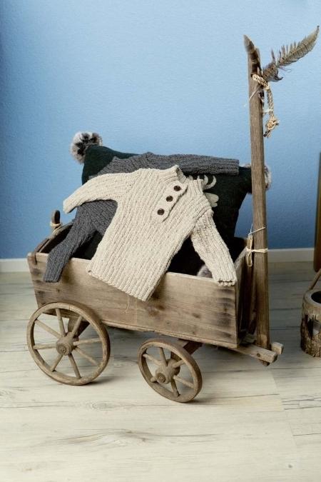 Детский пуловер из пряжи Lang Yarns Merino 150