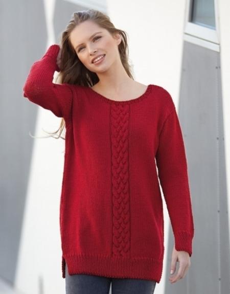 Женский пуловер из пряжи Katia Merino Sport