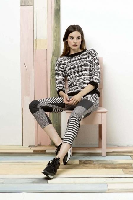 Жаккардовый пуловер из пряжи Lang Yarns Nelly