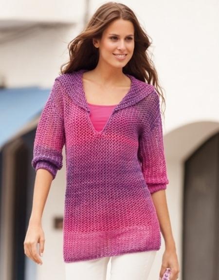 Пуловер из пряжи Katia Degrade Sun (Katia)