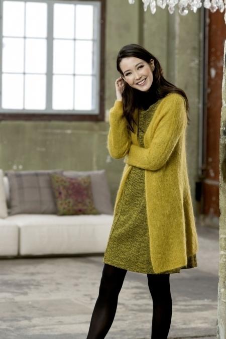 Пальто из мохера Lang Yarns Mohair Luxe