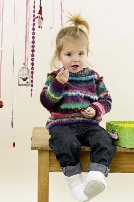 Детский свитер из пряжи Lang Yarns Mille Colori Baby