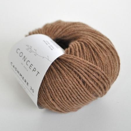 Пряжа для вязания и рукоделия Cashmere 30 (Katia) цвет 206, 94 м