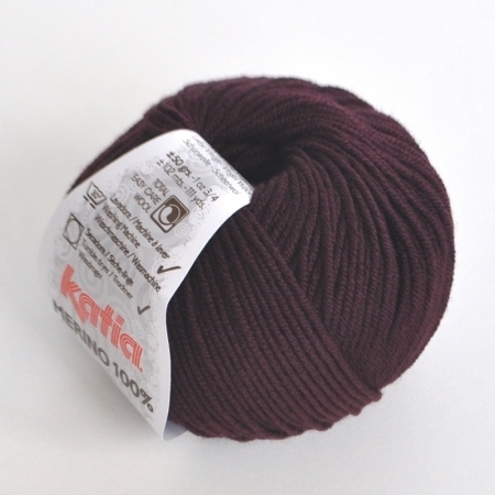 Пряжа для вязания и рукоделия Merino 100% (Katia) цвет 69, 102 м