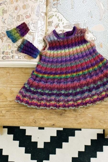 Детское платье из пряжи Mille Colori Baby (Lang Yarns)