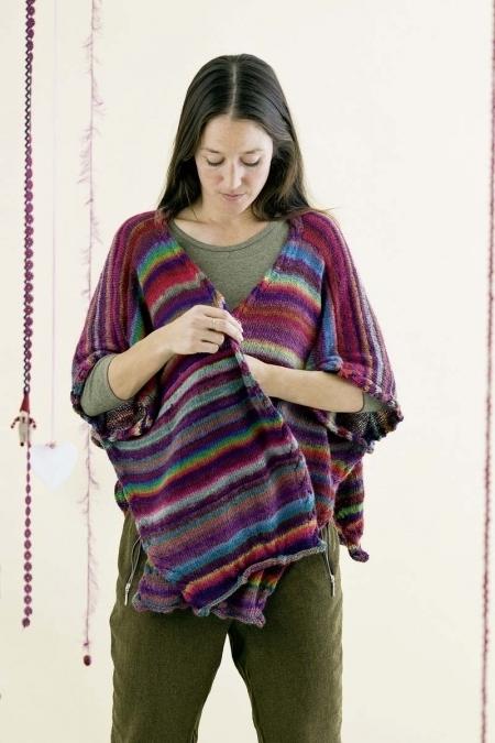 Жакет - накидка из пряжи Mille Colori Baby (Lang Yarns)