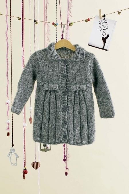 Детское пальто из пряжи Lang Yarns Malou Light