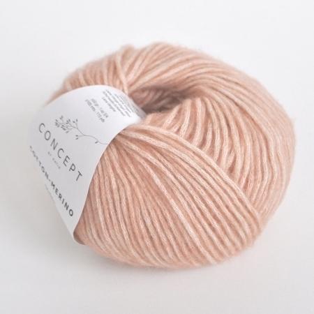 Пряжа для вязания и рукоделия Cotton Merino (Katia) цвет 102, 105 м