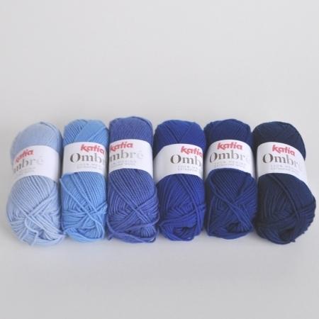 Пряжа для вязания и рукоделия Ombre (Katia) цвет 3, 85 м