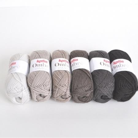 Пряжа для вязания и рукоделия Ombre (Katia) цвет 5, 85 м
