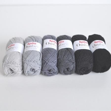 Пряжа для вязания и рукоделия Ombre (Katia) цвет 4, 85 м