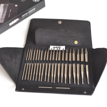 Набор круговых никелированных спиц со сменными лесками AddiClick Basic 650-7 (Addi)