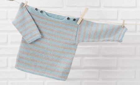 Детский свитер из пряжи Katia Cotton-Cashmere