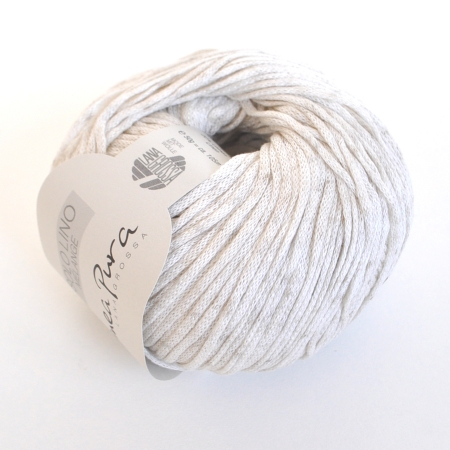 Пряжа для вязания и рукоделия Solo Lino Melange (Lana Grossa) цвет 101, 105 м