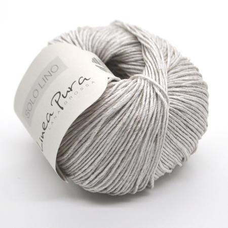 Пряжа для вязания и рукоделия Solo Lino (Lana Grossa) цвет 02, 120 м