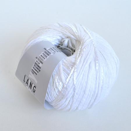 Пряжа для вязания и рукоделия Ella (Lang Yarns) цвет 001, 160 м