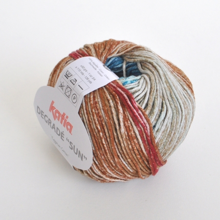 Пряжа для вязания и рукоделия Degrade Sun (Katia) цвет 112, 115 м