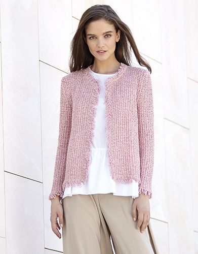 Жакет в стиле Chanel из пряжи Katia Silk-Viscose