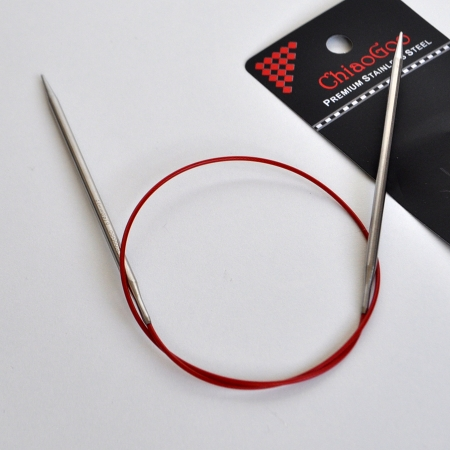 Спицы Premium SS RED, 60 см / 7.5 мм (Chiaogoo)