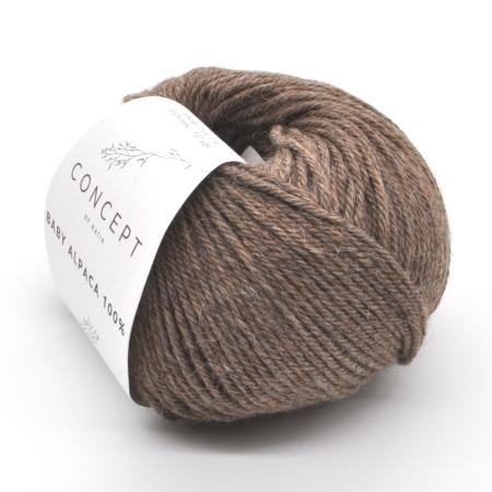 Пряжа для вязания и рукоделия Baby Alpaca (Katia) цвет 501, 125 м