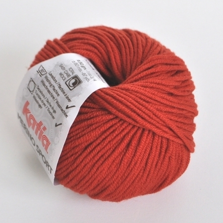 Пряжа для вязания и рукоделия Merino Sport (Katia) цвет 20, 80 м