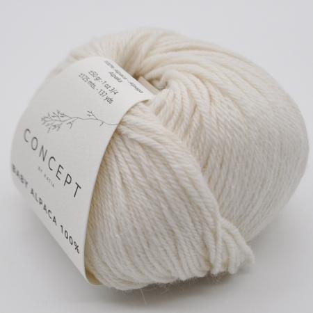 Пряжа для вязания и рукоделия Baby Alpaca (Katia) цвет 500, 125 м