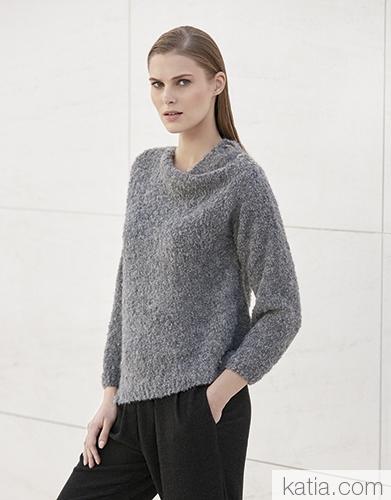 Пуловер из пряжи Katia Pisco