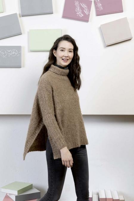 Кейп-свитер из пряжи Lang Yarns Passione
