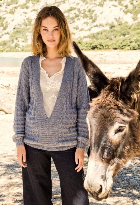 Пуловер из пряжи Lana Grossa Alpaca Peru 200 и Silkhair