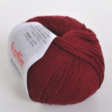 Пряжа для вязания и рукоделия Austral (Katia) цвет 25, 140 м