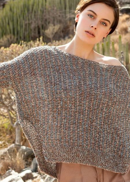 Пуловер из пряжи Lana Grossa Collino