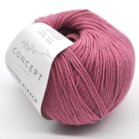 Пряжа для вязания и рукоделия Cotton-Alpaca (Katia) цвет 89, 150 м