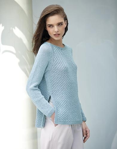 Свитер из пряжи Katia All Seasons Cotton