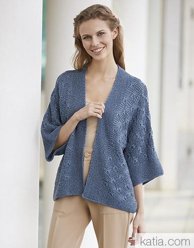 Жакет из пряжи Katia All Seasons Cotton