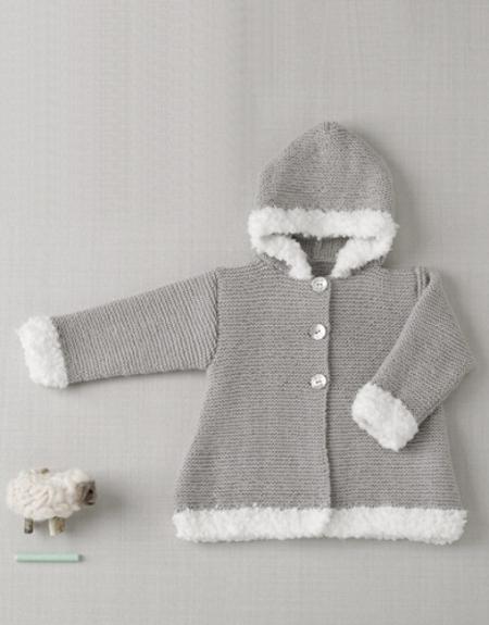 Детское пальто из пряжи Katia Austral и Bombon