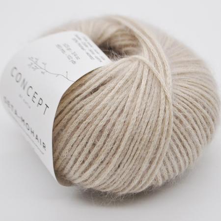 Пряжа для вязания и рукоделия Seta-Mohair (Katia) цвет 301, 93 м
