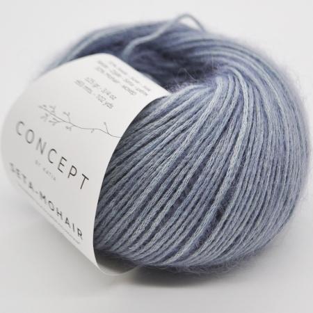Пряжа для вязания и рукоделия Seta-Mohair (Katia) цвет 305, 93 м