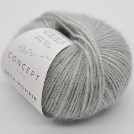 Пряжа для вязания и рукоделия Seta-Mohair (Katia) цвет 313, 93 м